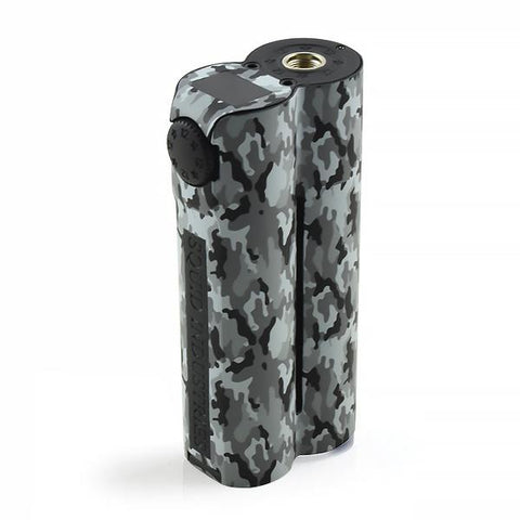 Squid Industries Double Barrel V3, Arctic Camo. The Village Vaporette, Cambridge, Ontario, Canada, squid vape, shotgun shape, sealed, upgraded double barrel, 25mm, 150w, powder coated