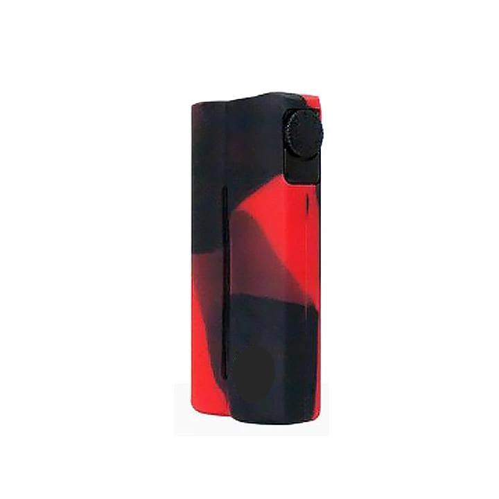 Double Barrel Mod Silicone Cases, black/red. The Village Vaporette.