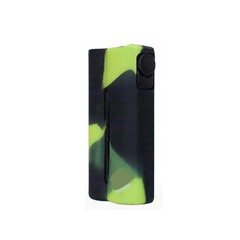 Double Barrel Mod Silicone Cases, black/green. The Village Vaporette.