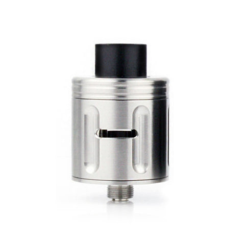 Squid Industries Peacemaker RDA, stainless. The Village Vaporette.