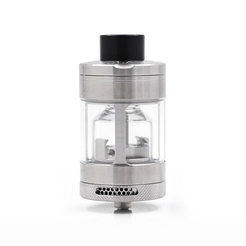 Steamcrave Glaz 7mL RTA, Stainless Steel. The Village Vaporette, Cambridge, Ontario, Canada, 7mL, 10mL capacity, postless, glass chimney, dual coil, vape tank, rebuildable, 31mm, big tank,