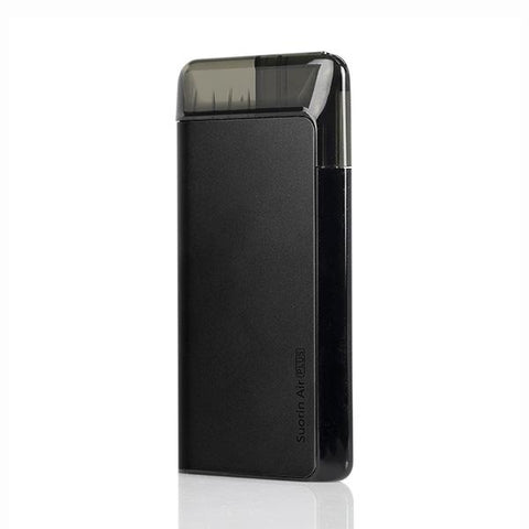 Suorin AIR PLUS Pod System, Black. The Village Vaporette, Cambridge, Ontario, Canada, pod vape, cartridges, pods, pocket vape, type c charging, square vape,