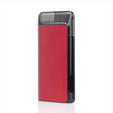 Suorin AIR PLUS Pod System, Red. The Village Vaporette, Cambridge, Ontario, Canada, pod vape, cartridges, pods, pocket vape, type c charging, square vape,