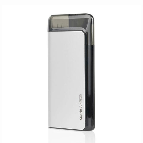 Suorin AIR PLUS Pod System, Silver. The Village Vaporette, Cambridge, Ontario, Canada, pod vape, cartridges, pods, pocket vape, type c charging, square vape,
