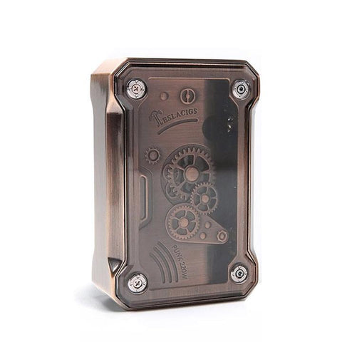 Tesla PUNK 220W Box Mod, copper. The Village Vaporette.