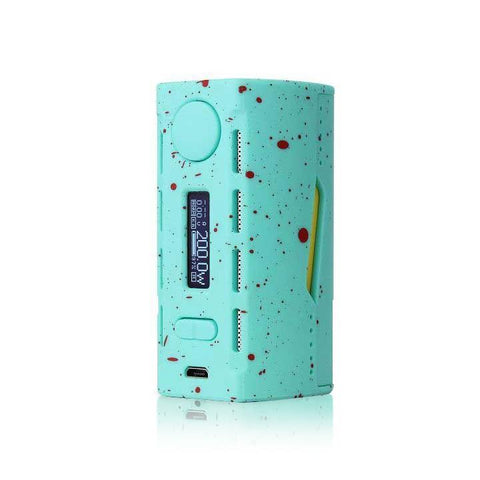 Teslacigs WYE 200W Mod, blue. The Village Vaporette.