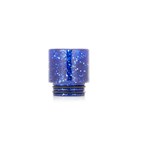 Glitter drip tips for TFV8 + TFV12, blue. The Village Vaporette.