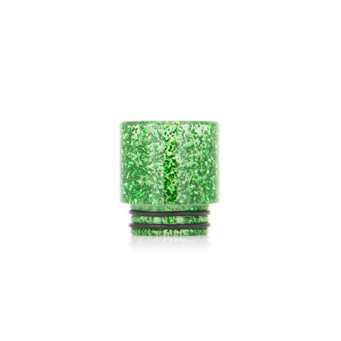 Glitter drip tips for TFV8 + TFV12, green. The Village Vaporette.