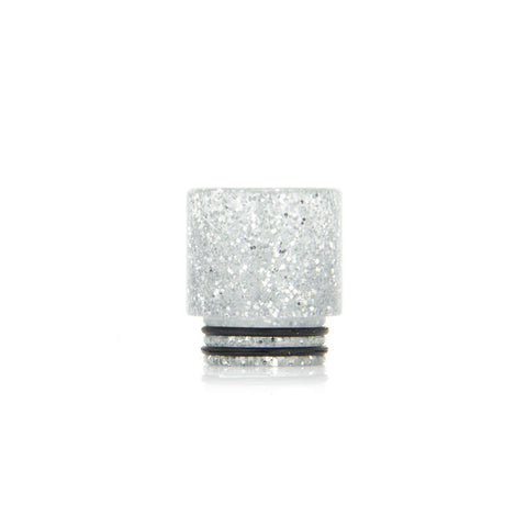 Glitter drip tips for TFV8 + TFV12, white. The Village Vaporette.