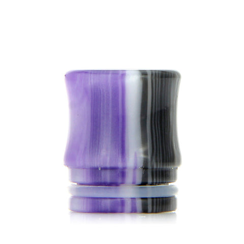Drip Tips for TFV8 Cloud Beast and Big Baby Tanks, purple white. The Village Vaporette.