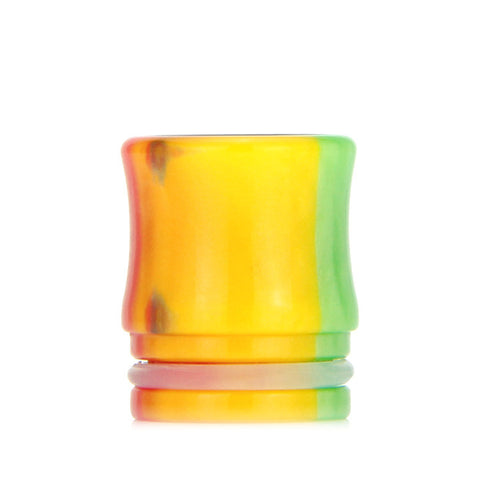 Drip Tips for TFV8 Cloud Beast and Big Baby Tanks, yellow rainbow. The Village Vaporette.