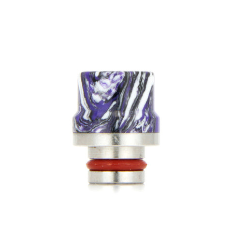 "Ceramic 510 drip tips, ""Top Hat"", White / Purple. The Village Vaporette."