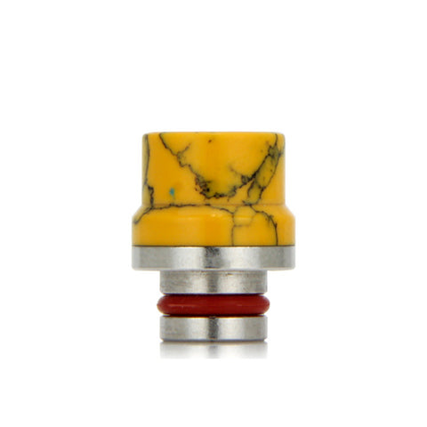 "Ceramic 510 drip tips, ""Top Hat"", Yellow. The Village Vaporette."