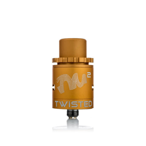 Twisted Mess V2 Lite RDA, gold. The Village Vaporette.