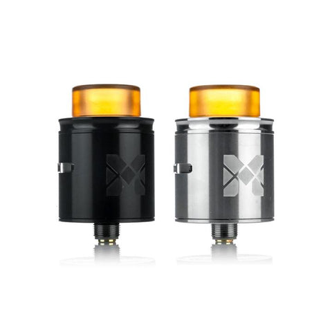 Mesh 24mm RDA by Vandy Vape, black & stainless. The Village Vaporette.