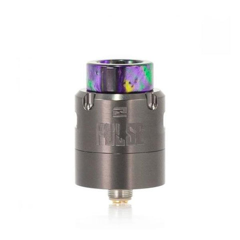 Vandy Vape Pulse V2, Gun Metal. The Village Vaporette, Cambridge, Ontario, Canada, rda, rebuildable, dripper, ultem inserts, vape dripper, atomizer, build your own, wide bore,