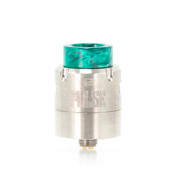 Vandy Vape Pulse V2, Stainless. The Village Vaporette, Cambridge, Ontario, Canada, rda, rebuildable, dripper, ultem inserts, vape dripper, atomizer, build your own, wide bore,