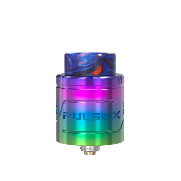 Vandy Vape Pulse X RDA, Rainbow. The Village Vaporette, Cambridge, Ontario, Canada, dripper, dripping atomizer, rebuildable, build deck,