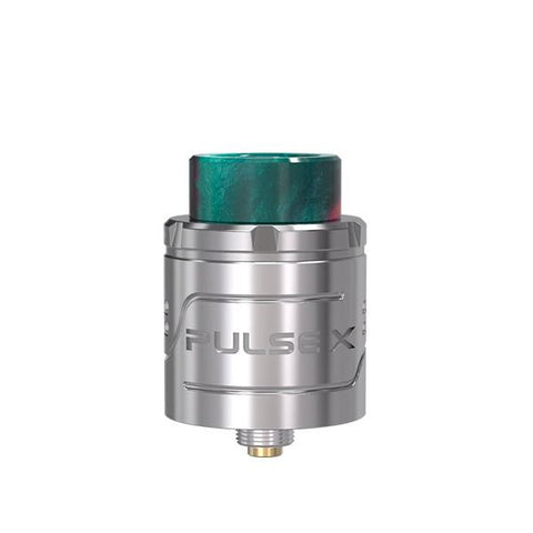 Vandy Vape Pulse X RDA, Stainless Steel. The Village Vaporette, Cambridge, Ontario, Canada, dripper, dripping atomizer, rebuildable, build deck,
