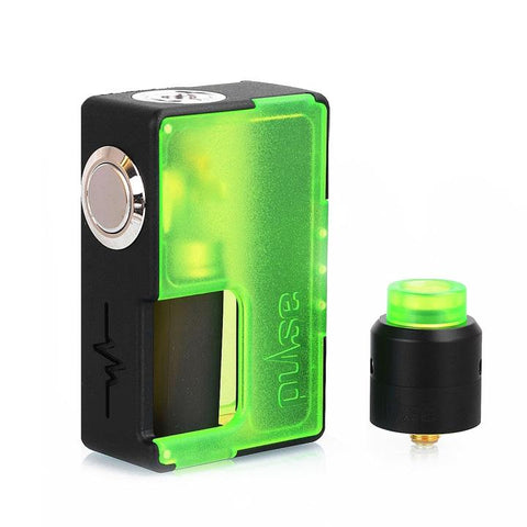 Vandy Vape Pulse BF Squonk Starter Kit Special Edition with RDA, frosted green. The Village Vaporette.