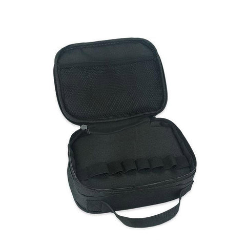 Vape bag with handle, inside 1. The Village Vaporette.