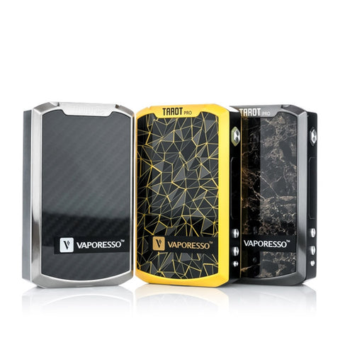 Vaporesso Tarot Pro 160W Box Mod, stainless, yellow, marble. The Village Vaporette.