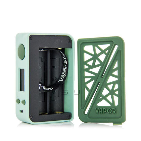 Vapor Storm SUBVERTER 200W Box Mod, dual battery bay. The Village Vaporette.