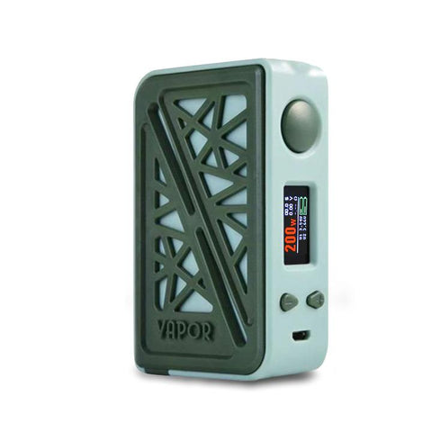 Vapor Storm SUBVERTER 200W Box Mod, green - front view. The Village Vaporette.