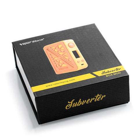 Vapor Storm SUBVERTER 200W Box Mod, packaging. The Village Vaporette.