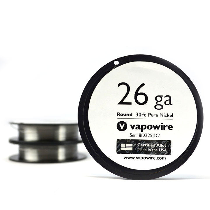 Vapowire 26 ga Ni200 Pure Nickel Wire. The Village Vaporette.