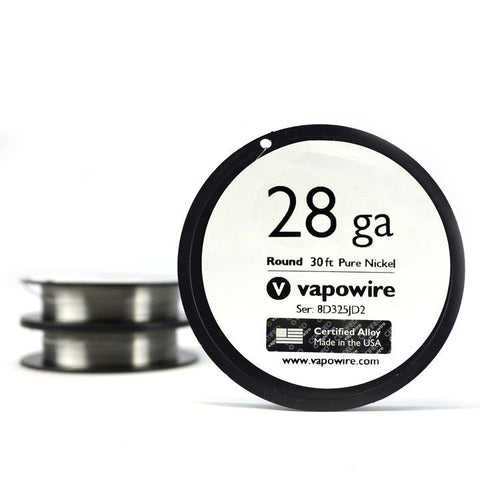Vapowire 28 ga Ni200 Pure Nickel Wire. The Village Vaporette.