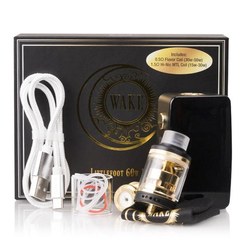 "Wake Mod Co. ""LITTLEFOOT"" Starter Kit, packaging. The Village Vaporette."