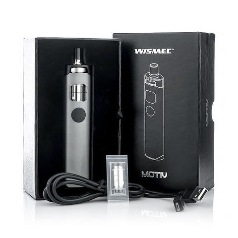 Wismec Motiv All-In-One Kit, packaging. The Village Vaporette.