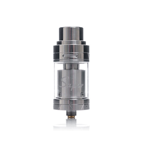 Wotofo Sapor RTA, stainless steel. The Village Vaporette.