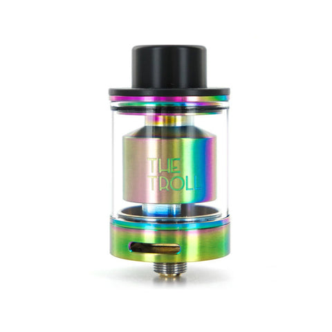 The Troll RTA by Wotofo, rainbow. The Village Vaporette.