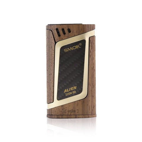 WÜD Skins for Smok Alien Mod, walnut. The Village Vaporette.