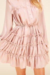 Shiny Ruffle Dress