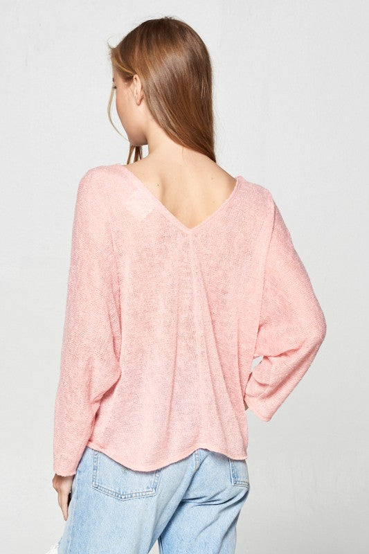 Front Tie-Long Sleeve Top