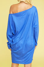 Load image into Gallery viewer, Dolman Sleeve Off the Shoulder Dress