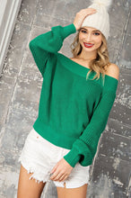 Load image into Gallery viewer, Off Shoulder Balloon Sleeve Sweater