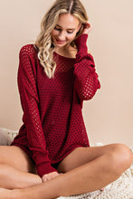 Load image into Gallery viewer, Eyelet Knit Sweater