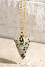 Load image into Gallery viewer, Arrow Natural Stone Charm Necklace