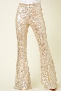 Champagne Sequin Dress Pant
