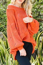 Load image into Gallery viewer, Off-Shoulder Sweater/Puff Sleeves