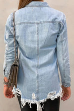Load image into Gallery viewer, Distressed Denim Top