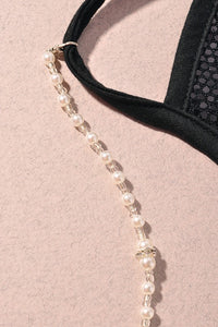 Pearl Beaded Mask Chain