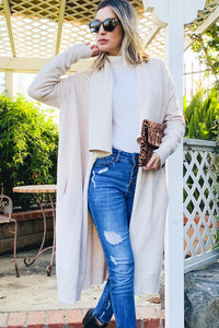 Open-Front Collar Cardigan
