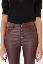 Load image into Gallery viewer, High Rise Skinny Jeans -Burgundy