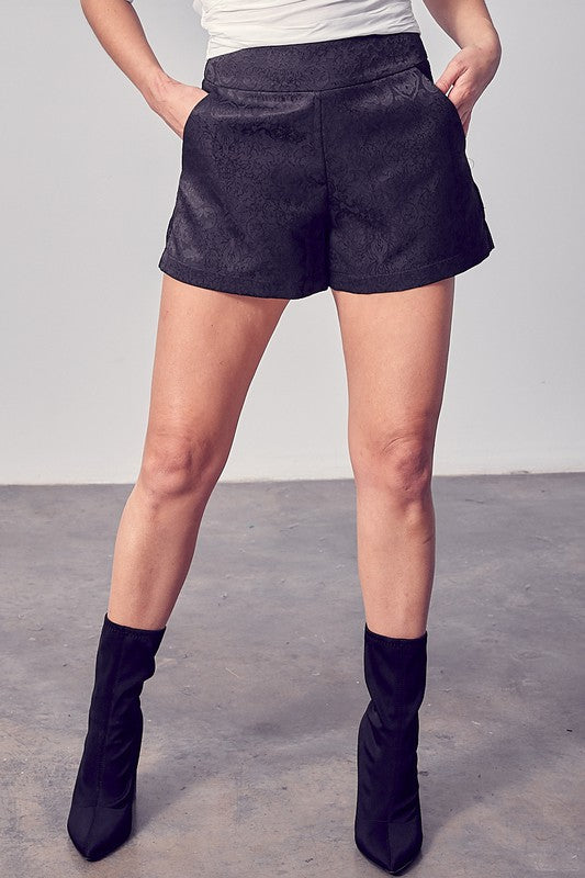 Brocade Mini Shorts