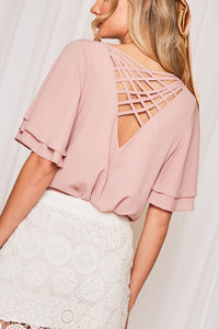 Crisscrossed Back Blouse